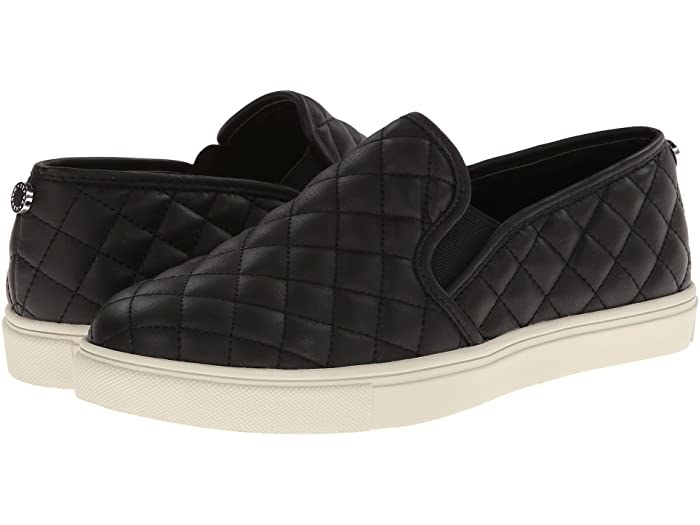 Steve Madden Ecentrcq sneaker in black with quilted design all over