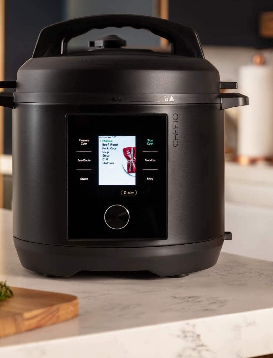 the smart cooker sitting on a counter