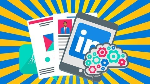 Illustration of web pages and an iPad that's showing the LinkedIn logo