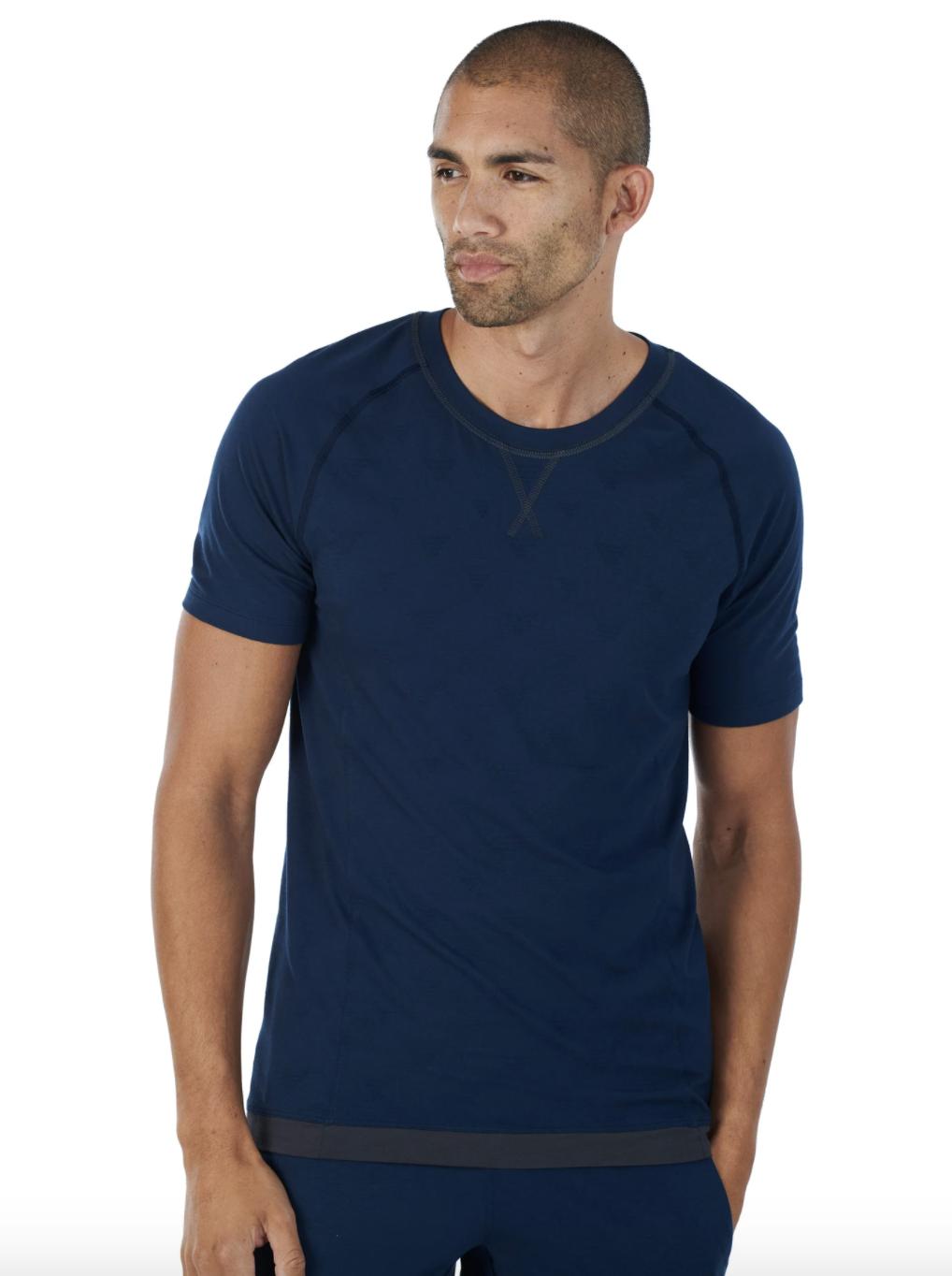 Model wearing the sleep shirt