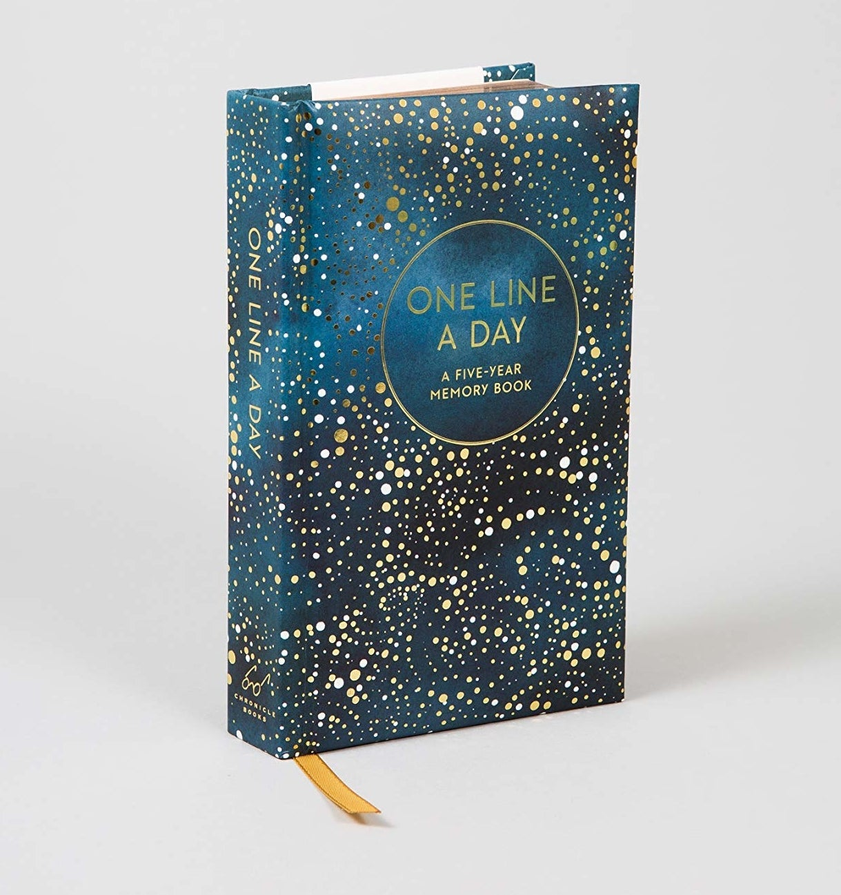 the journal with starry cover design