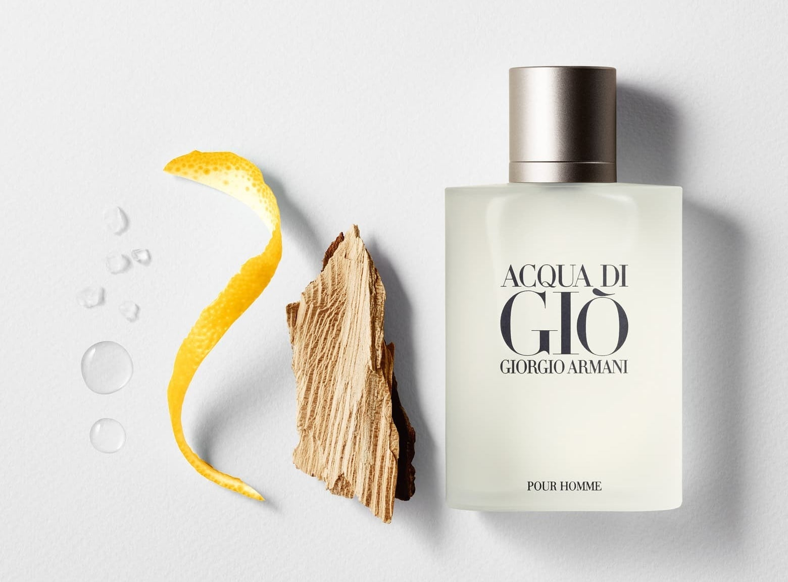 The bottle of cologne