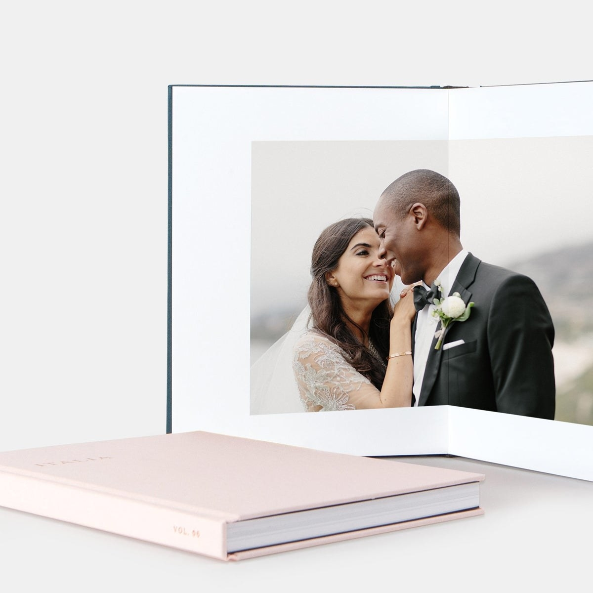 Two lay-flat photo albums