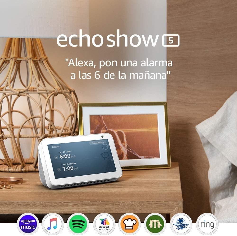 bocina inteligente eco show 5 con Alexa