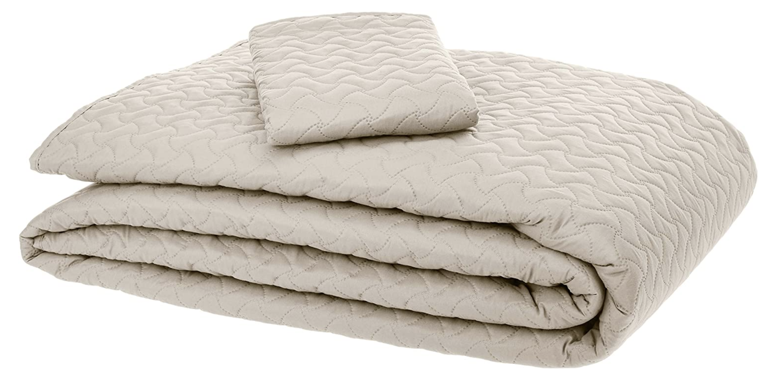 cobertor individual y funda para almohada, ambos color crema