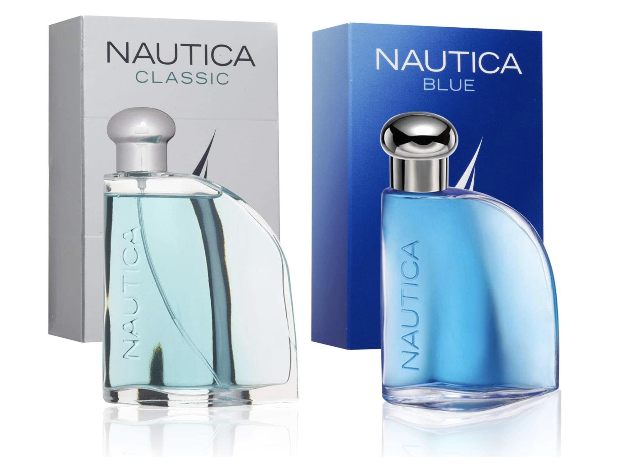 Par de fragancias para hombre: una es Nautica Blue y otra Nautica cl?sica