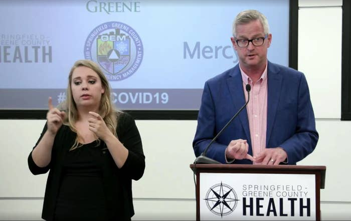 The Springfield-Greene County Health Department Director Clay Goddard announces the possible exposure cases during a May 22 press conference.