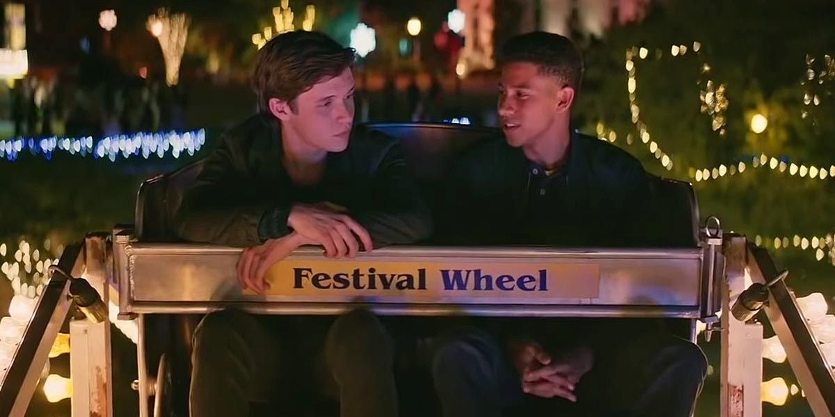 Simon and Bram on the ferris wheel in Love Simon.