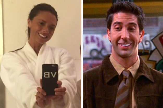 "David Beckham Joked That Victoria Looked Like Ross From ""Friends,"" And Now I Can't Unsee It"