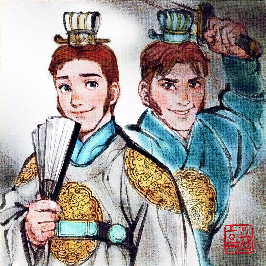 "Hans from Disney's ""Frozen"" wearing Korean nobleman clothing."