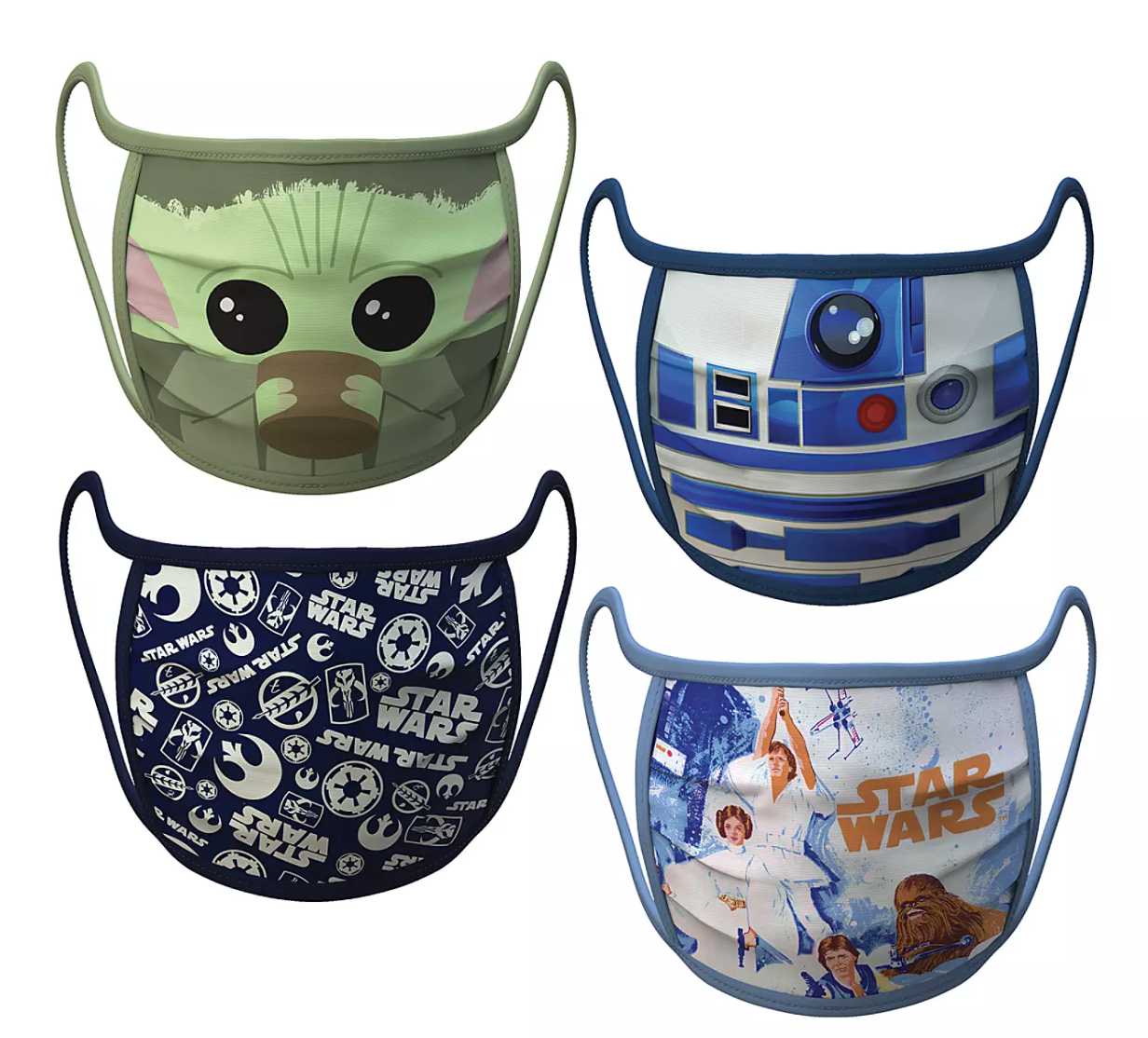 """Star Wars"" face masks with Baby Yoda, R2-D2, and other character designs"