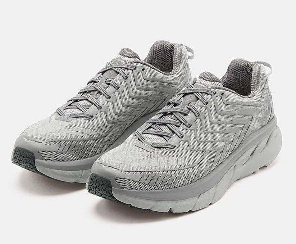 the sneakers in silver