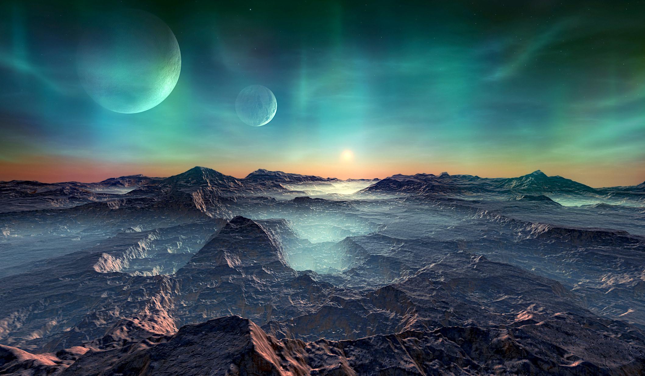 An alien planet.