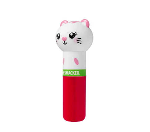 the lip balm with a cute cat lid