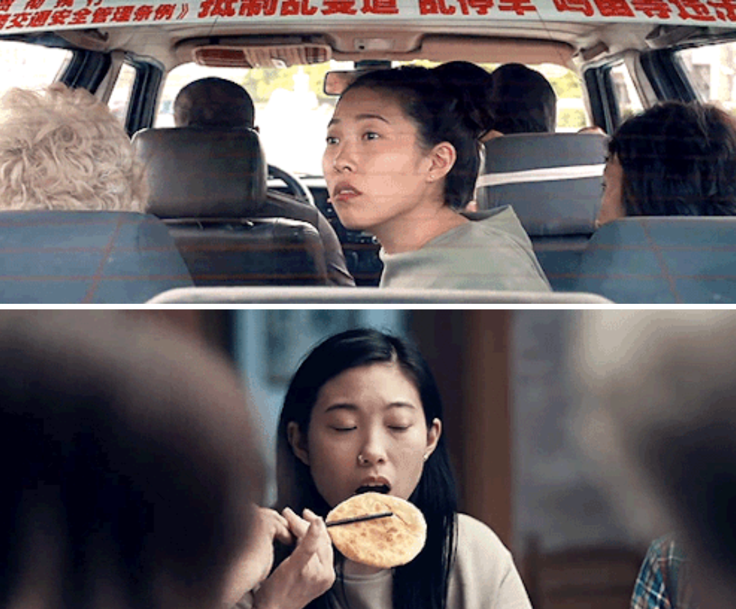 Awkwafina in different scenes throughout the movie