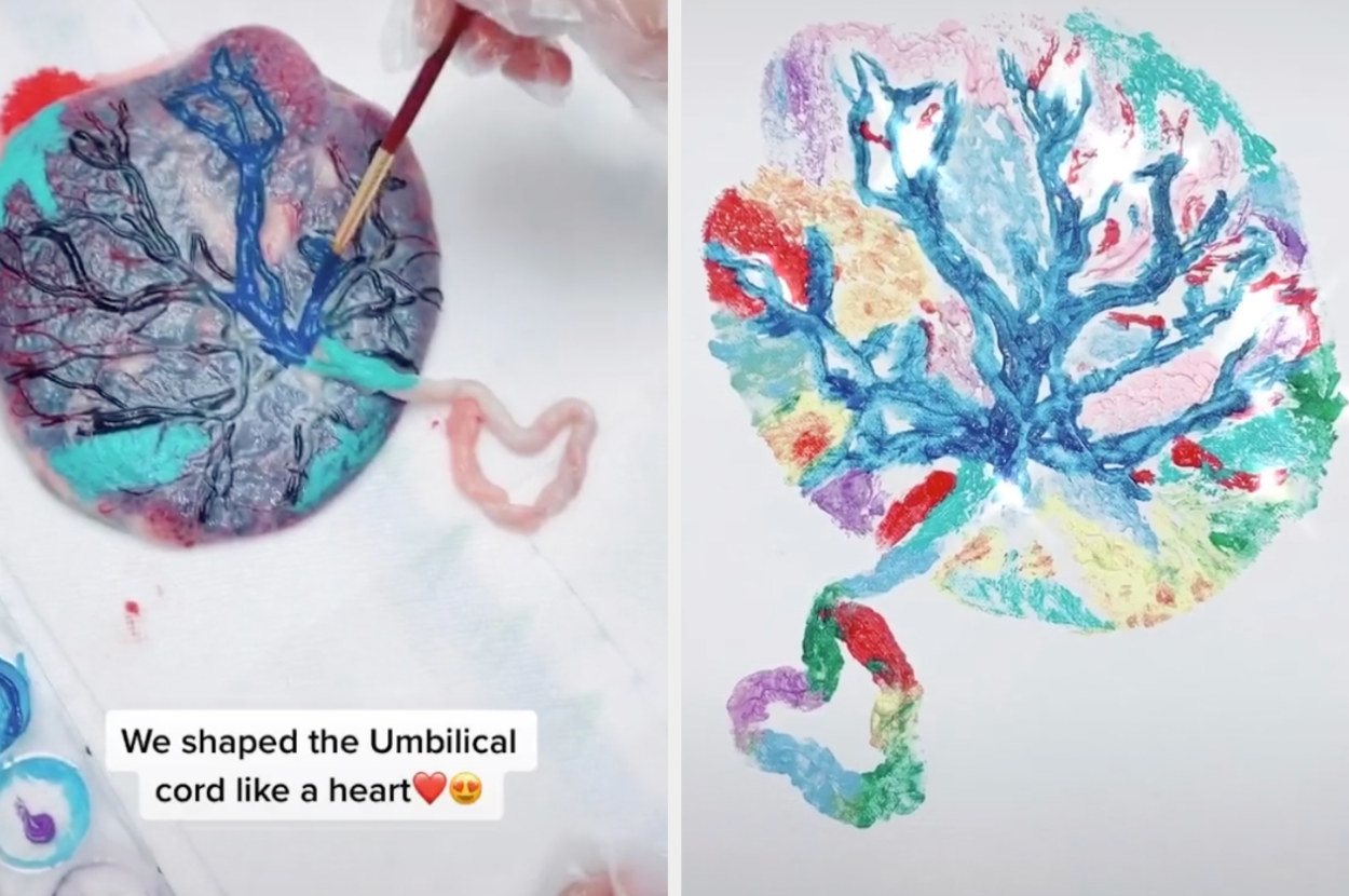 This Placenta Painting On Tiktok Is Actually Really Pretty