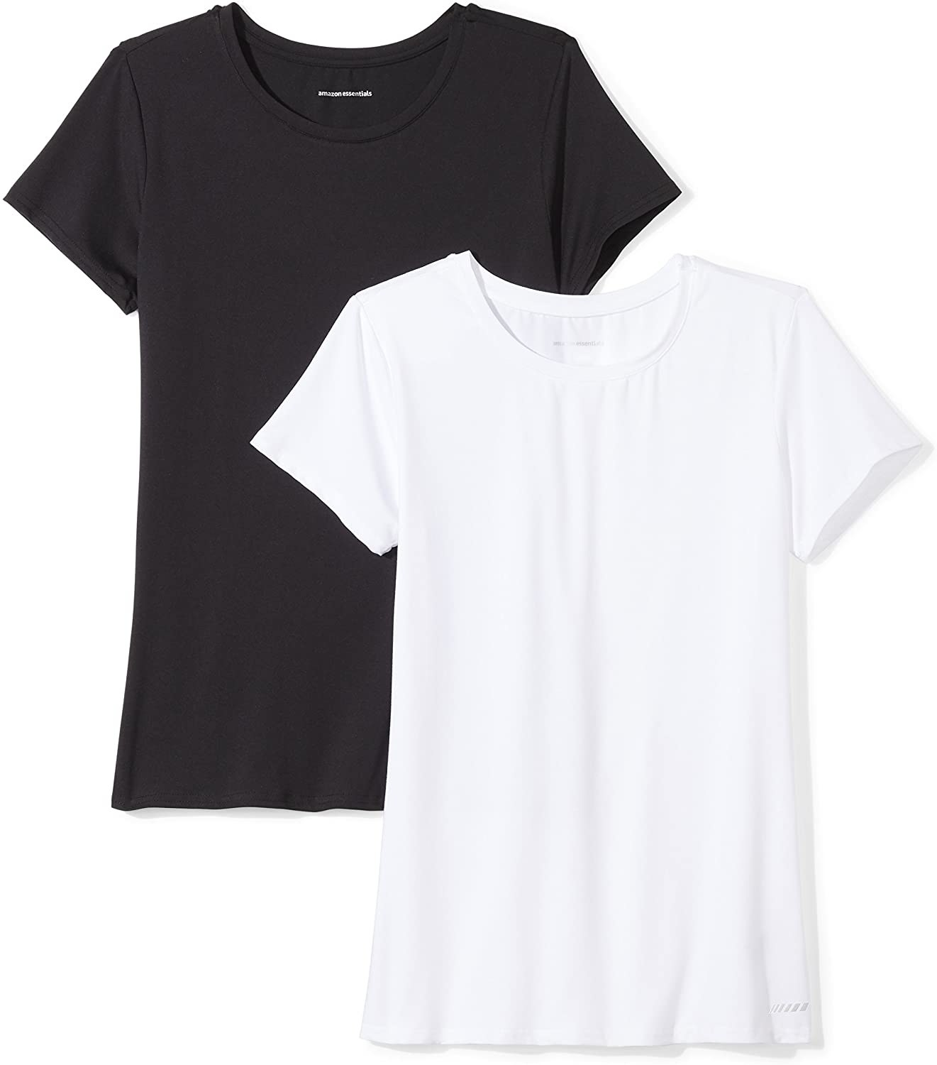 one shirt in black and the other in white