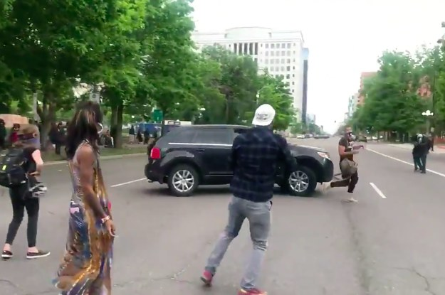 A Woman In A Car Attempted To Run A Man Over At A George Floyd Protest In Denver