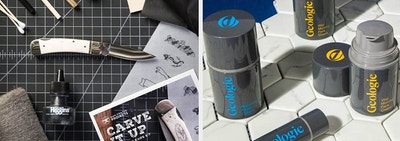split thumbnail of knife on desk and skincare products