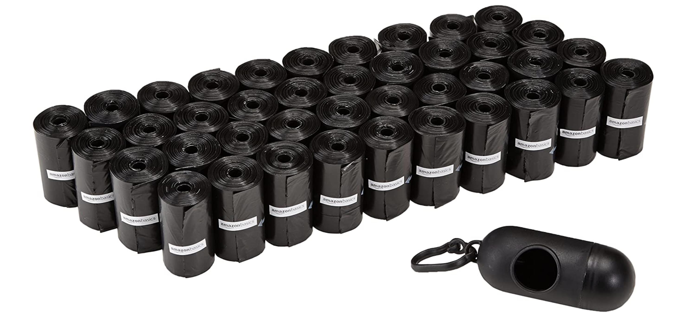 600 bolsas negras de basura para excrementos de perros