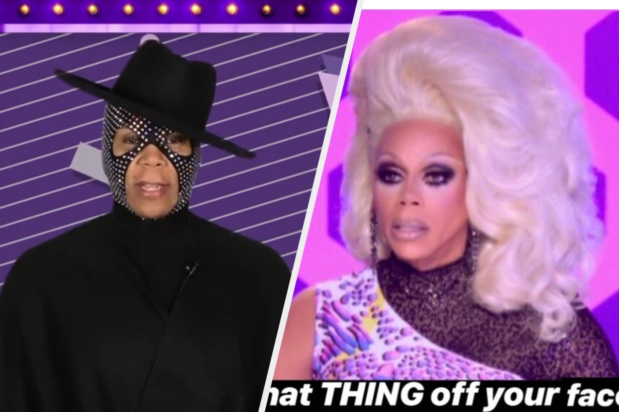 """RuPaul Wore A Mask Again During Last Night's """"RuPaul's Drag Race"""" Finale And It Was Def A Choice"""
