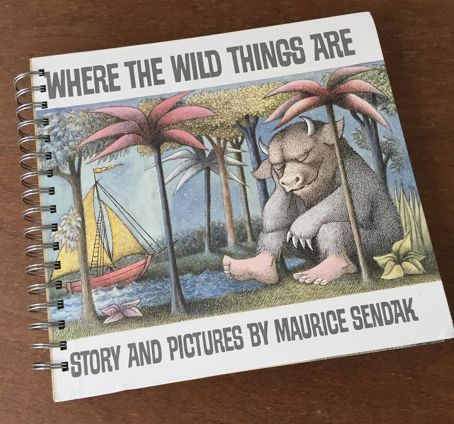 """cover of custom book """"where the wild things are"""""""