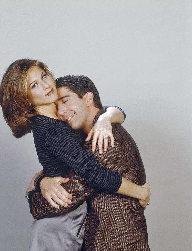 ross and rachel hugging