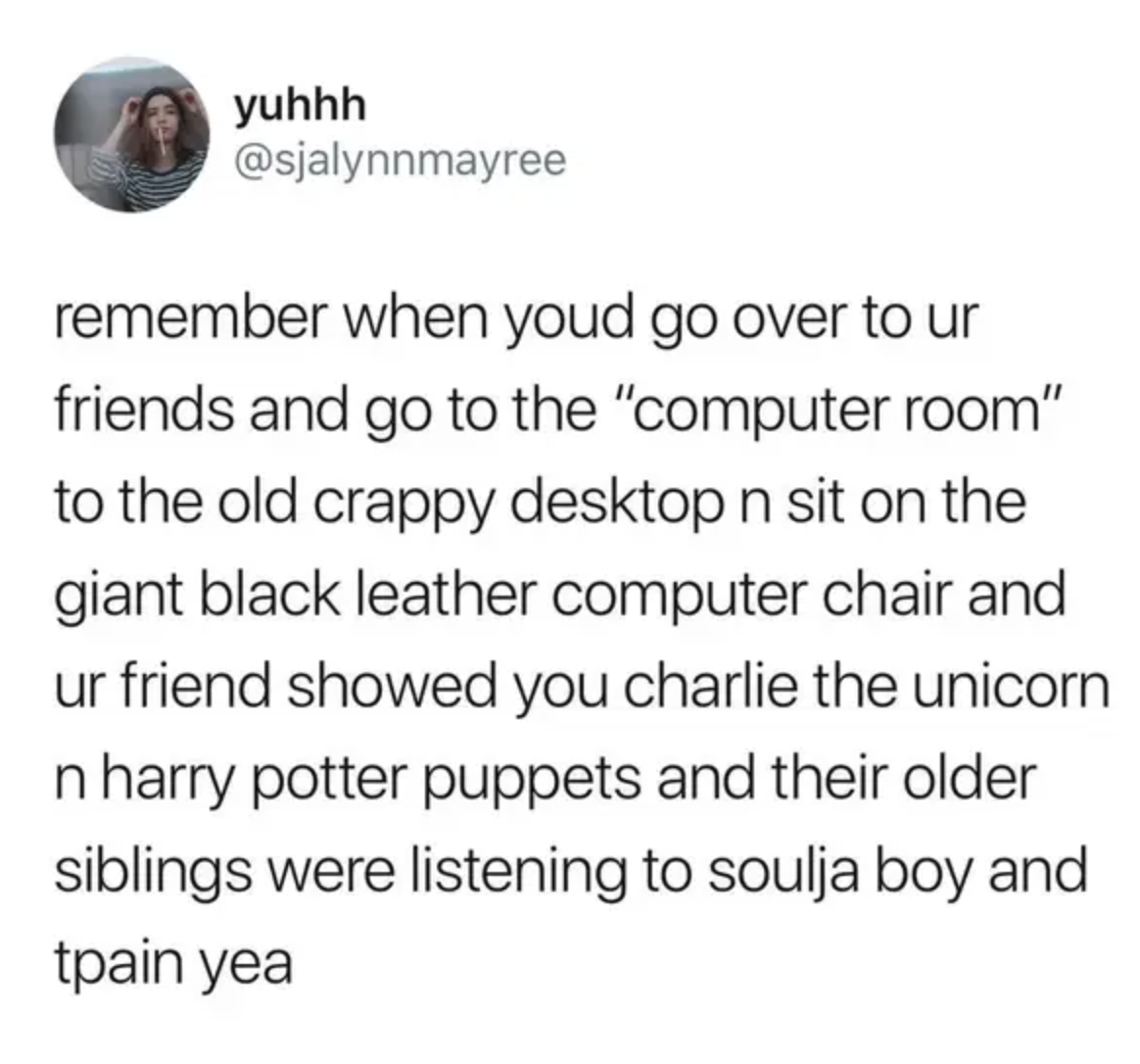 tweet about the existence of a computer room being a thing