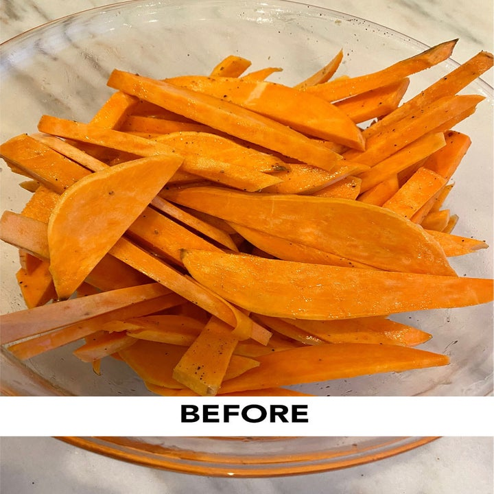 Before photo of sweet potato fries