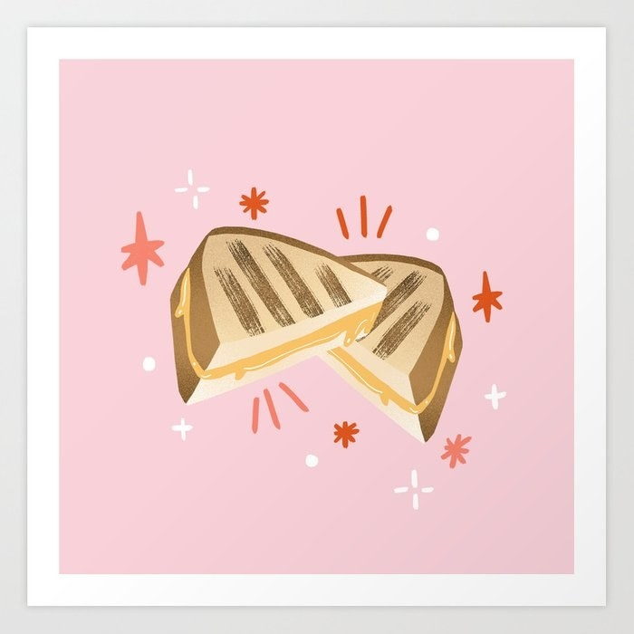 Illustration of grilled cheese