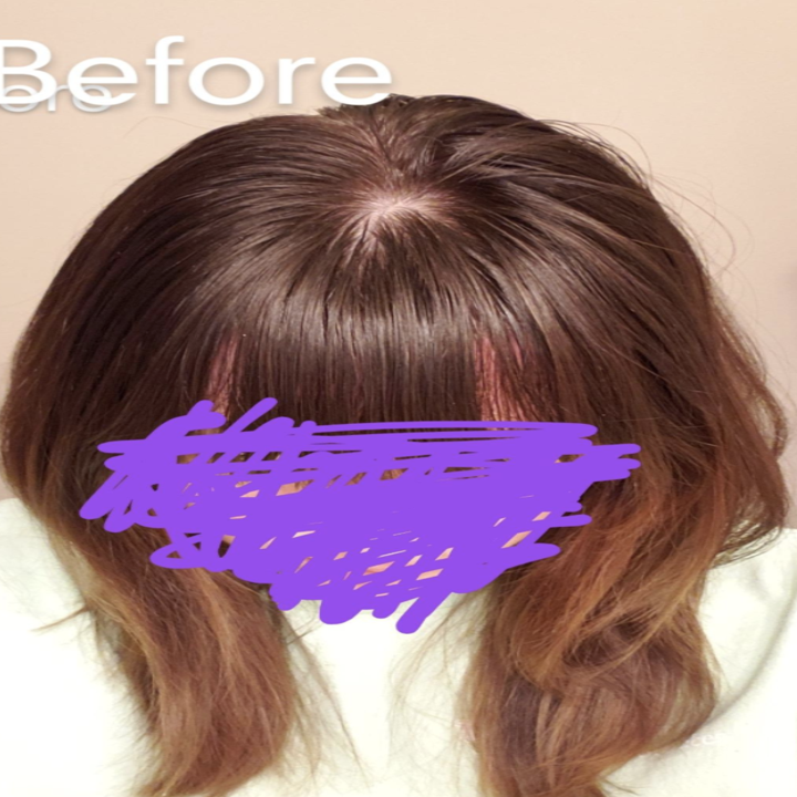 before image of reviewer's hair showing it appearing greasy