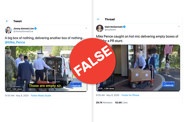 No, Mike Pence Did Not Deliver Empty Boxes To A Nursing Home For A Publicity Stunt