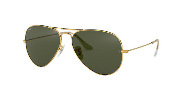 Ray-Ban Classic Aviators in green