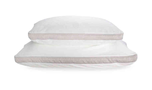 stack of the two different sized pillows