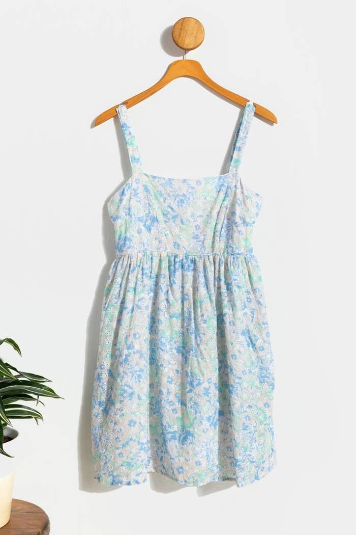 The baby blue floral eyelet dress