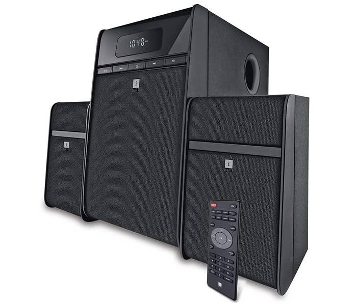 AniBall Tarang Classic 2.1 Multimedia Speaker System in black.