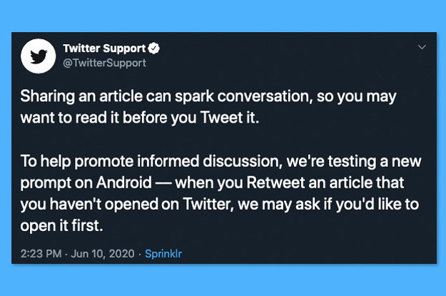 Twitter Says You Have To Read This Article Before You Tweet It