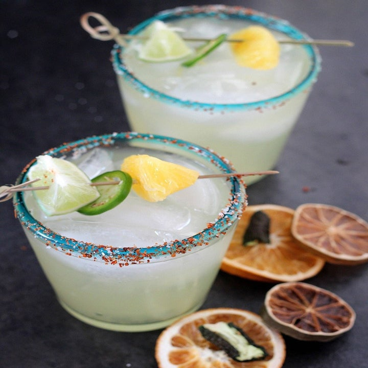 Two spicy margaritas