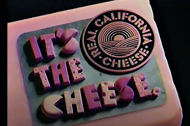 """Screenshot of cheese spelling out """"It's the cheese"""""""