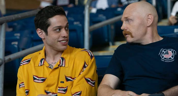 still of Pete Davidson and Bill Burr in The King of Staten Island