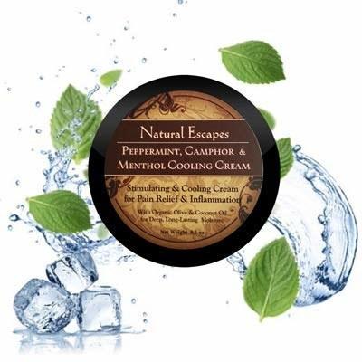 Natural Escapes Organic Peppermint, Camphor & Menthol Cooling Cream