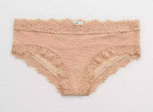 The underwear in cream