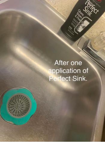 The same reviewers sink looking shiny and stain-free, with the text