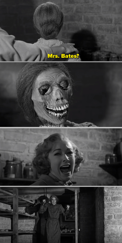 Mrs. Bates's skeleton in the basement