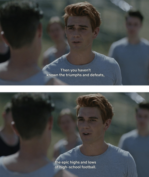 """Archie talking about the """"epic highs and lows of high school football."""""""