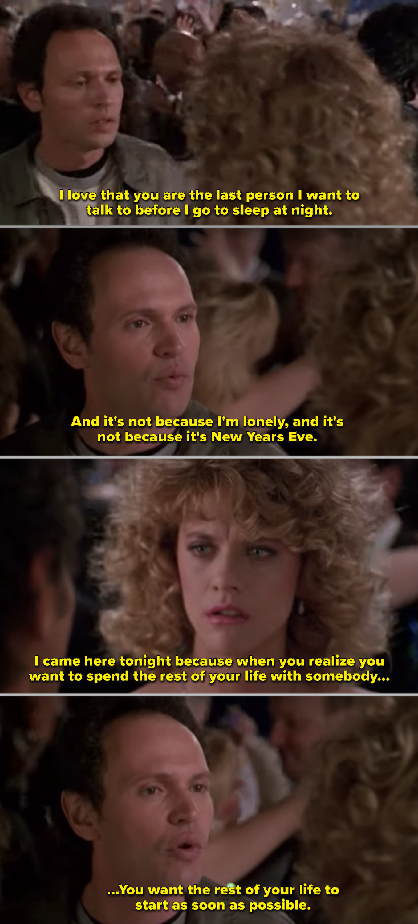 Harry and Sally at a New Year's Eve party