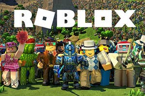 A lot of Roblox avatars together