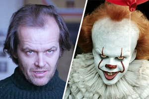 """Jack Torrence from """"The Shining"""" and Pennywise from """"It"""" being terrifying"""