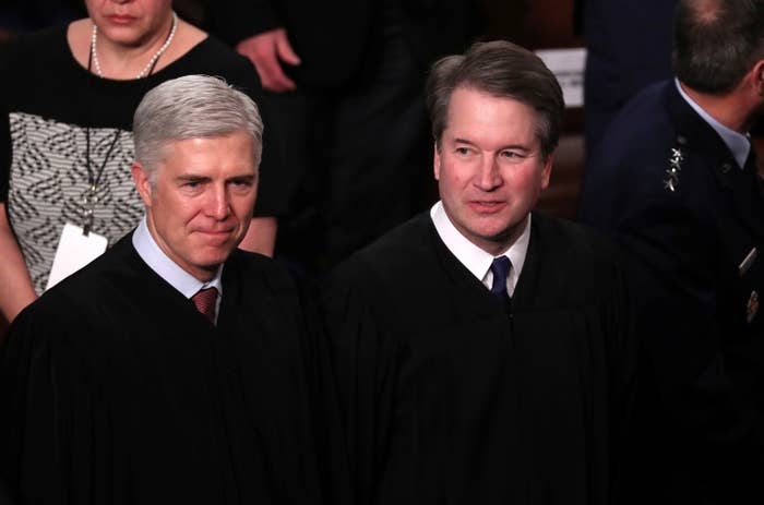 Justices Neil Gorsuch (left) and Brett Kavanaugh
