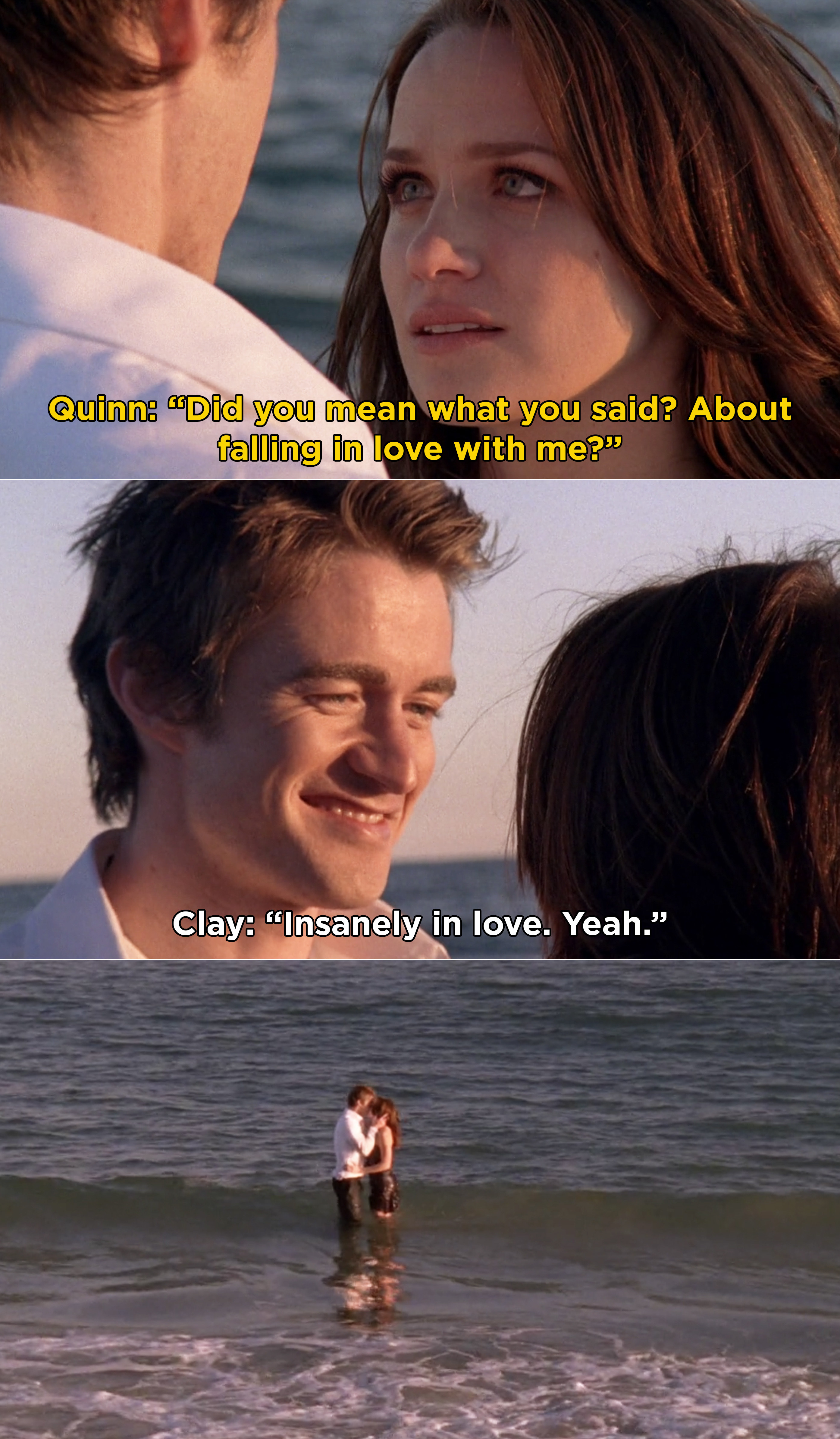 """Clay telling Quinn he plans on falling """"insanely in love"""" with her"""
